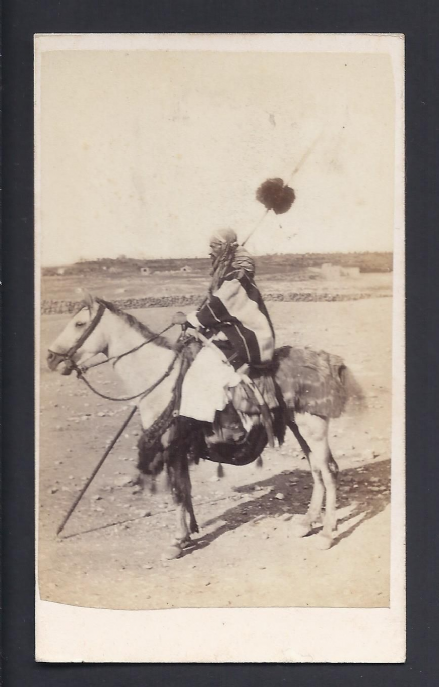 Desert Arab Middle East Rachid Airekat Chief Escort to the Jordan circa 1860